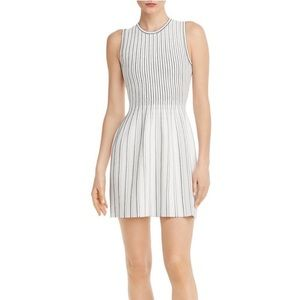 THEORY | NEW STRIPED KNIT SHELL DRESS LUSTRATE
